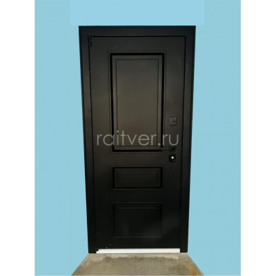 Входная дверь Райтвер Прадо чёрного цвета