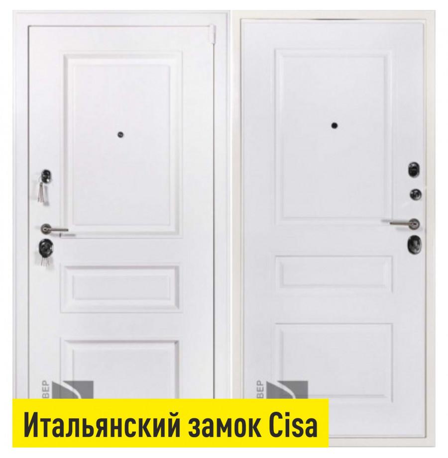 Уличная входная дверь Райтвер Прадо муар белый Cisa