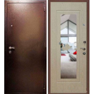 Входная дверь Райтвер K-2 Зеркало Белый дуб