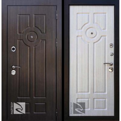 Входная дверь Райтвер Дипломат Лиственница (Белая панель)