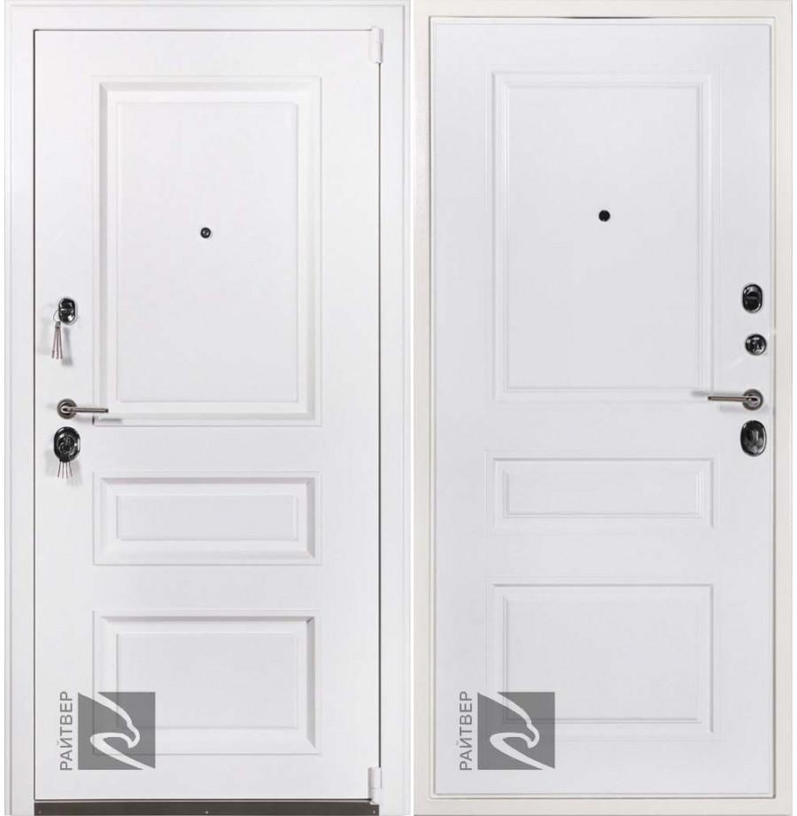 Уличная входная дверь Райтвер Прадо муар белый ТЕРМОРАЗРЫВ