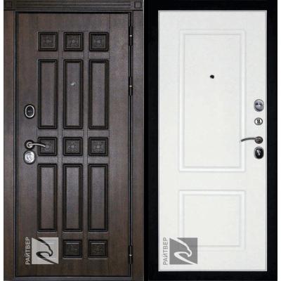 Входная дверь Райтвер Спарта терморазрыв темный дуб / белый