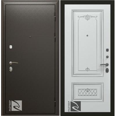 Входная дверь Райтвер Премьер с Накладкой Аккорд патина серебро