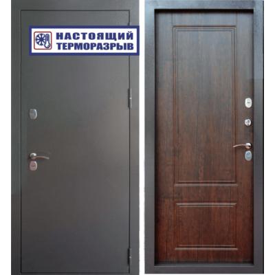 Уличная входная дверь Райтвер Сибирь Термо Тиковое дерево